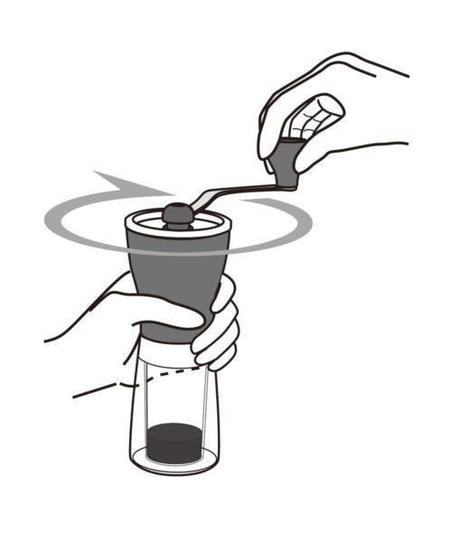 Ilustração de moedor de café