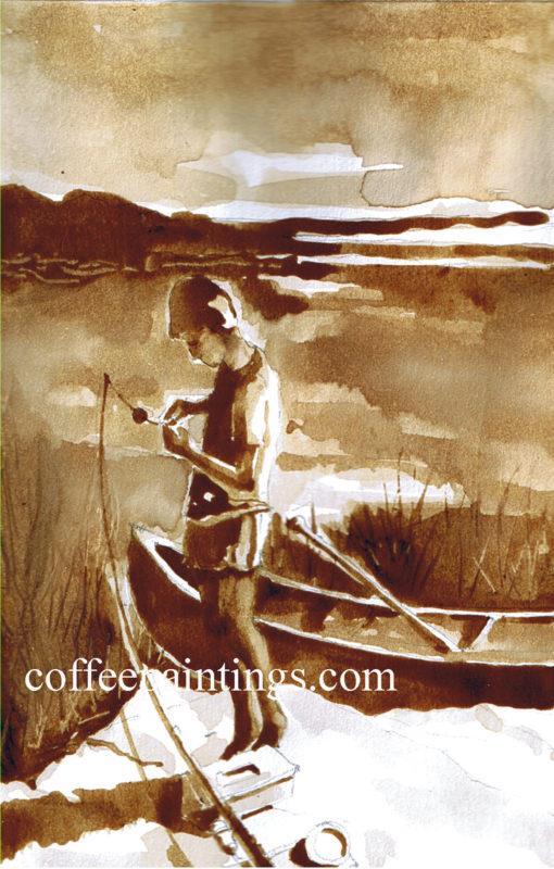 pintura com café Caleb 1