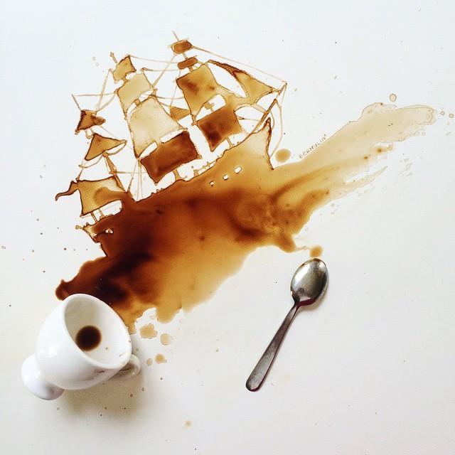 Giulia Bernardelli pintura cafe 1