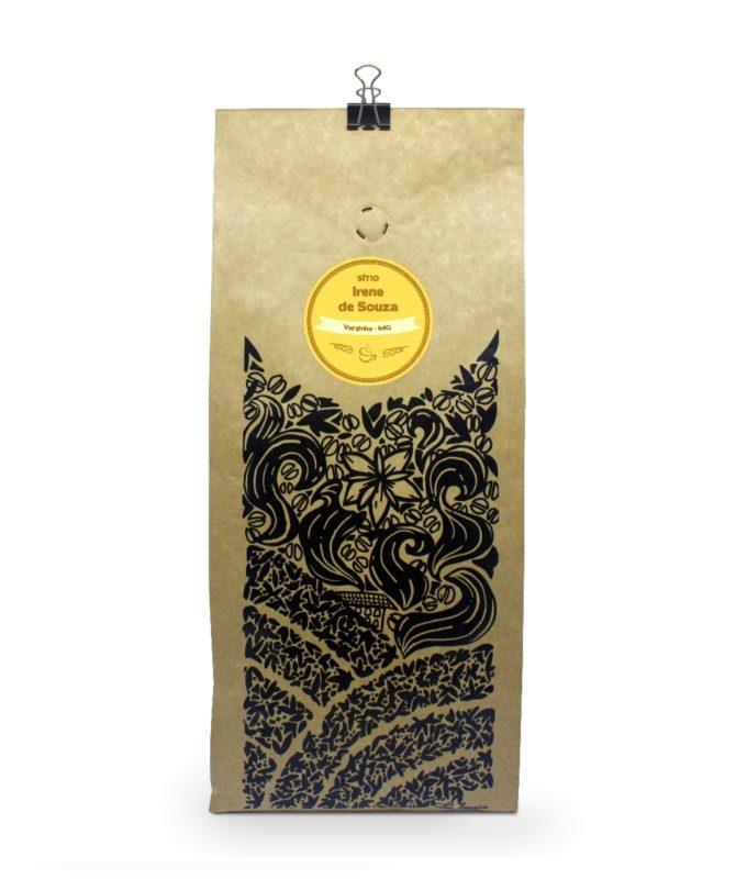 Embalagem café Sítio Irene de Souza