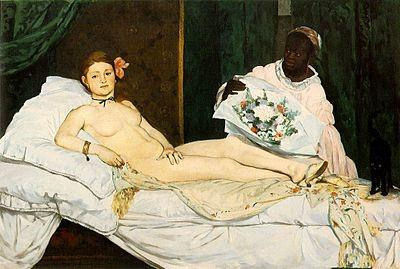 Pintura Olympia de Manet
