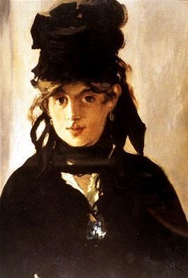 imagem Berthe Morisot com um bouquet de violetas